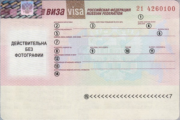 How To Read A Russian Visa Russia Real Russia