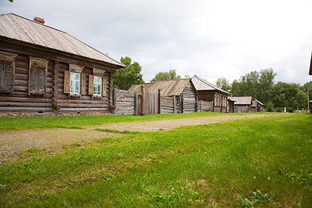 Wooden Houses from Siberia in Ulan-Ude Ethnographic Museum