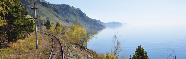 Views of Lake Baikal on the Golden Eagle Express