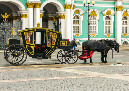 Period Carriage Outside the Hermitage