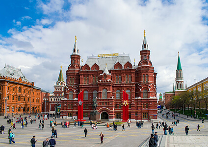 Tourists in Red Square, Moscow