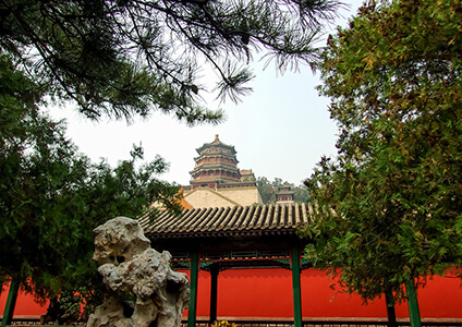 the Tower of Buddhist Incense in the Summer Palace, Beijing