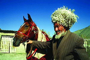 Turkmenistan Man With Horse