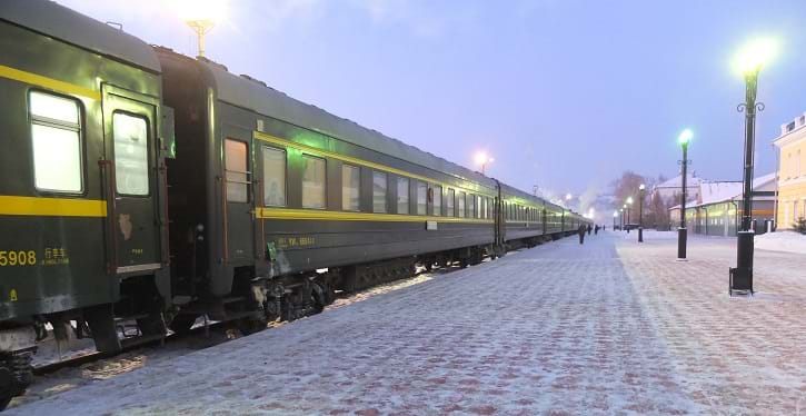 Trains 003/004 on the Trans-Mongolian railway
