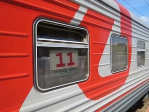 Moscow to Vladivostok Trans-Siberian train