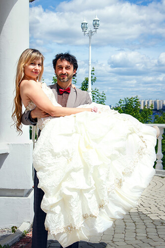 Couple Getting Married in Russia