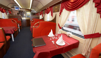 Express train restaurant carriage