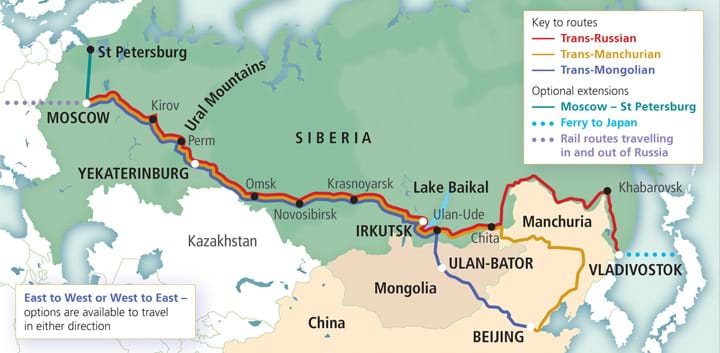 Trans Siberian Routes